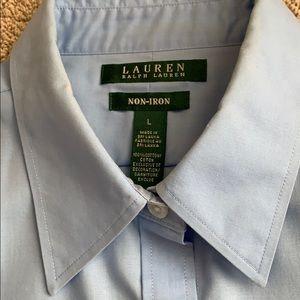 Ralph Lauren Sky Blue Cotton Blouse Long Sleeves